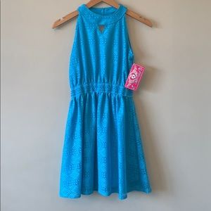 Real Love Girls Blue Lace Sundress